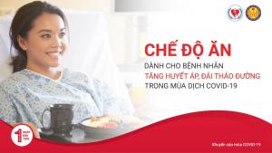 Chế độ ăn dành cho bệnh nhân tăng huyết áp (bệnh cao huyết áp), đái tháo đường (bệnh tiểu đường) trong mùa dịch