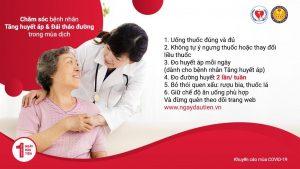 Chăm sóc bệnh nhân Tăng Huyết Áp, Đái Tháo Đường trong mùa dịch