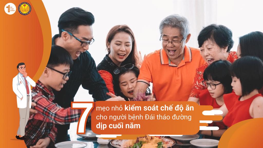 7 mẹo nhỏ giúp kiểm soát chế độ ăn cho người bệnh Đái tháo đường dịp cuối năm