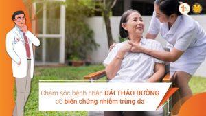 Các biện pháp chăm sóc bệnh nhân Đái tháo đường có biến chứng nhiễm trùng da