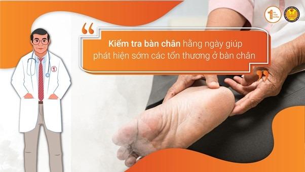 5 mẹo chăm sóc người thân bị biến chứng bàn chân Đái tháo đường 3