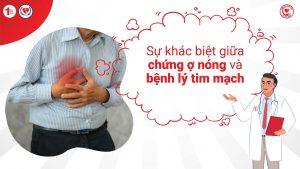Sự khác biệt giữa triệu chứng Ợ nóng và Đau thắt ngực