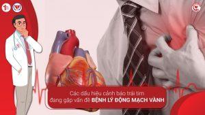 Các dấu hiệu cảnh báo trái tim đang gặp vấn đề bệnh lý động mạch vành